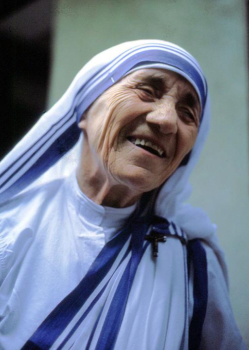 Mother Teresa by Manfredo Ferrari [CC BY-SA 4.0], via Wikimedia Commons